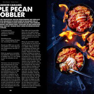 BBQ Feast on Fire - apple pecan cobbler