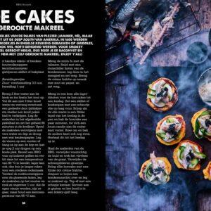 BBQ Feast on Fire - hoe cakes met gerookte makreel
