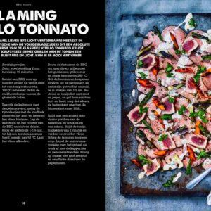 BBQ Feast on Fire - flaming vitello tonato