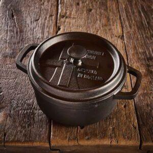 Dutch Windmill - BBQ pan en deksel mini - black