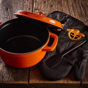 Dutch Windmill - BBQ pan en deksel -mini orange