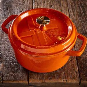 Dutch Windmill - BBQ pan met deksel maxi - orange 1