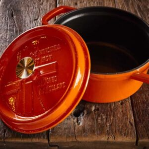 Dutch Windmill - BBQ pan met deksel maxi - orange 2