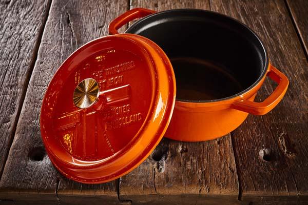 Dutch Windmill - BBQ pan met deksel maxi - orange 2