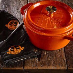 Dutch Windmill - BBQ pan met deksel maxi - orange 3